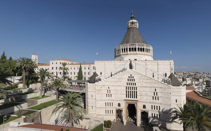 Veduta della basilica dell'Annunciazione, progettata su due livelli. (foto Nimrod Sannders/CTS)