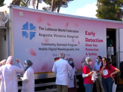 Una clinica mobile al servizio delle donne palestinesi