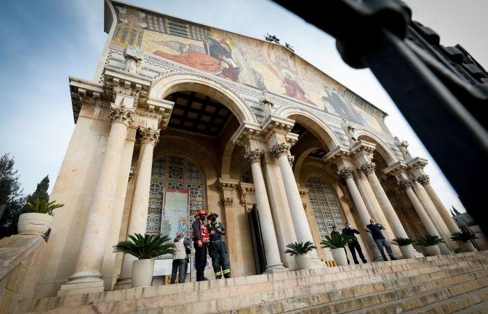 Un atto di vandalismo incendiario al Getsemani