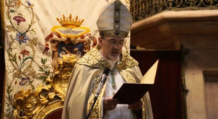 L'ingresso del patriarca Pizzaballa al Santo Sepolcro