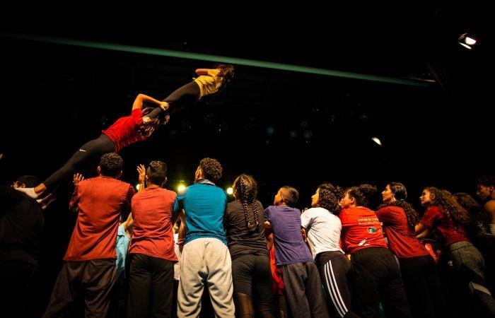 Attività di gruppo durante gli allenamenti.