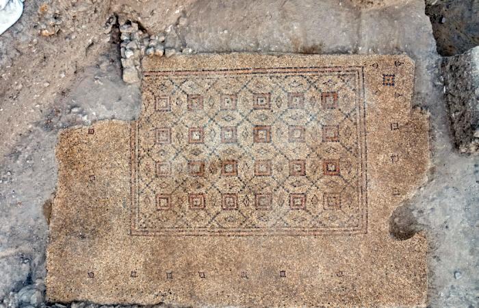 Scoperto a Yavne un prezioso mosaico