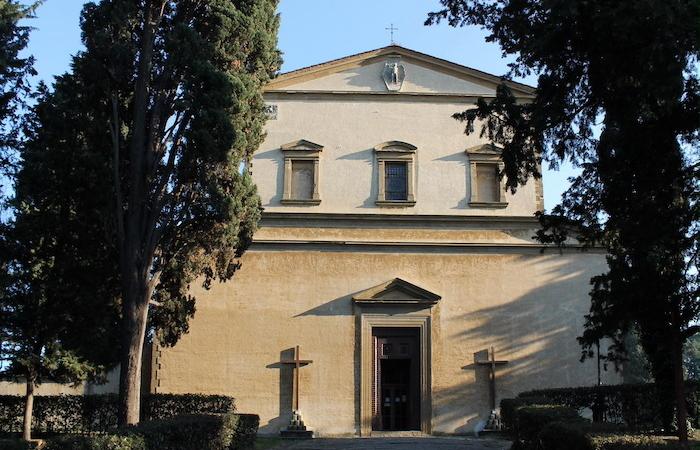 La chiesa del convento di Monte alle Croci, nei pressi di piazzale Michelangelo a Firenze.
