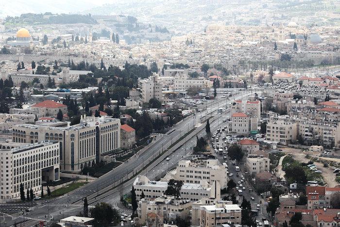 Veduta dall'alto del quartiere Sheikh Jarrah a Gerusalemme.