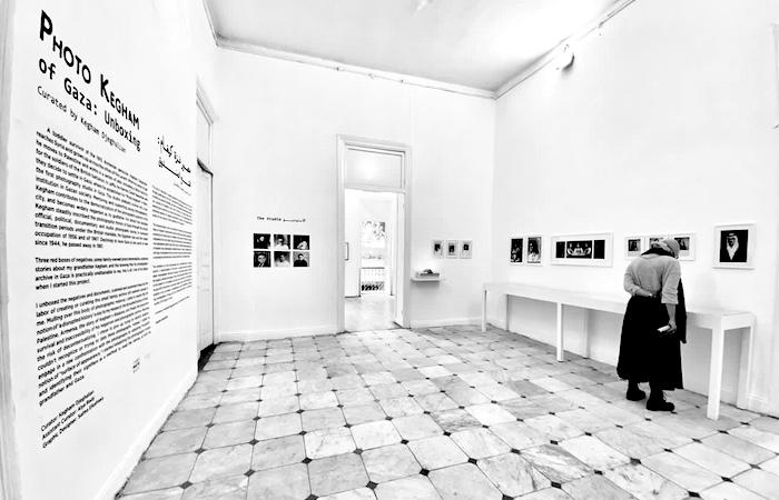 Una delle sale della mostra allestita al Cairo nel marzo 2021. (foto © Kegham Djeghalian)