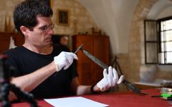 Un antico organo di Betlemme in fase di studio